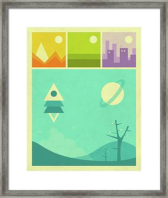 Worlds Of Wonder Framed Print by Jazzberry Blue