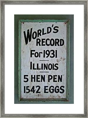 World's Record Framed Print by Gwyn Newcombe