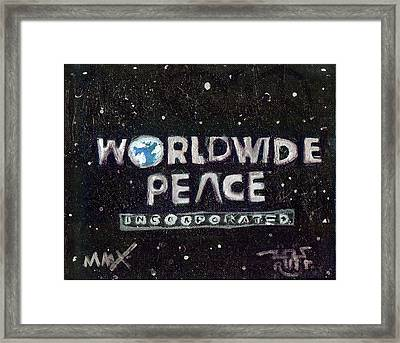 Worldwide Peace Incorporated Framed Print