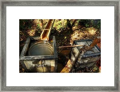 Worm Box And Thump Keg Framed Print