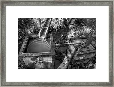 Worm Box And Thump Keg In Black And White Framed Print