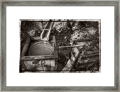 Worm Box And Thump Keg With Border Framed Print