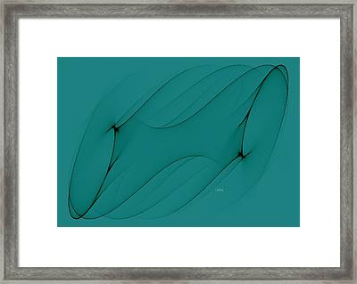 Wormhole In Turquoise  Framed Print by Angela A Stanton