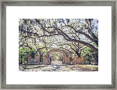 Wormsloe Entry Gate Framed Print by Joan McCool