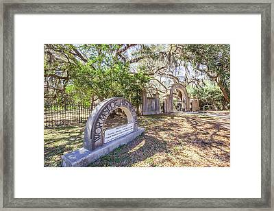 Wormsloe Historic Site Framed Print by Joan McCool