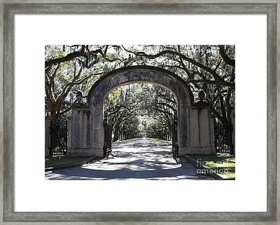 Wormsloe Plantation Gate Framed Print