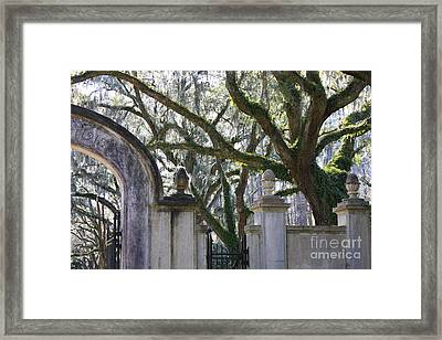 Wormsloe Welcome Framed Print