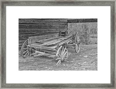 Worn And Broken Framed Print