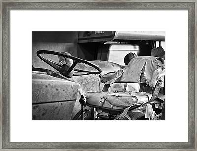 Worn And Torn Bw Framed Print by Christi Kraft