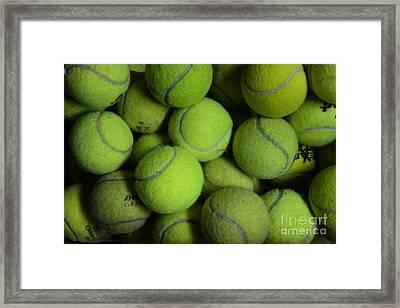 Worn Out Tennis Balls Framed Print