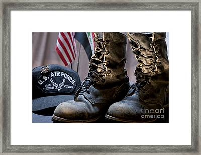 Worn Out Veteran Framed Print by Melany Sarafis
