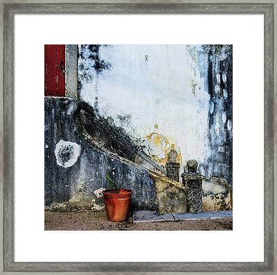 Framed Print featuring the photograph Worn Palace Stairs by Marion McCristall
