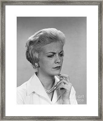 Worried Woman, C.1960s Framed Print by H. Armstrong Roberts/ClassicStock