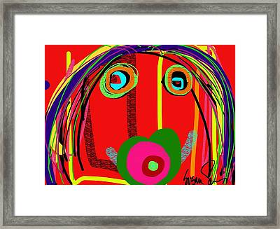 Worries Worries All Day Long Framed Print