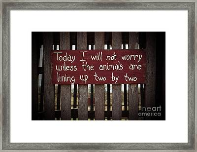 Worry Framed Print