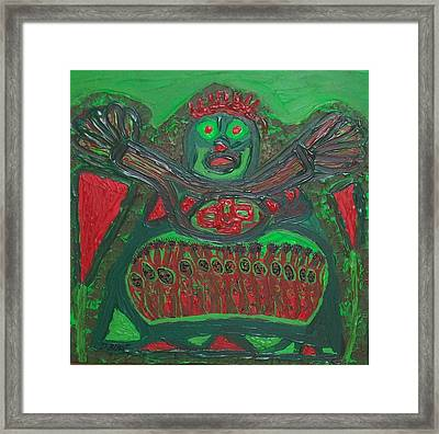 Worship Of A Green Demigod Framed Print