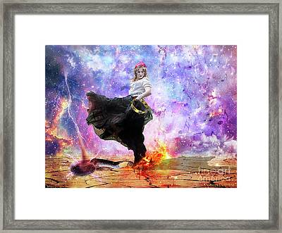 Worship Warrior Framed Print by Dolores Develde