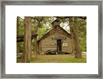 Worship With Us Framed Print