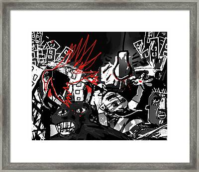 Worshippers Of The Beast Wage War On The Lamb Framed Print by Paul Sutcliffe