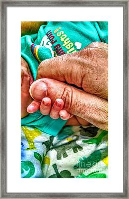 Worth Holding On To Framed Print