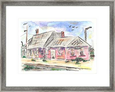 Worthington Depot Framed Print by Matt Gaudian