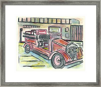 Worthington Fire Engine Framed Print by Matt Gaudian