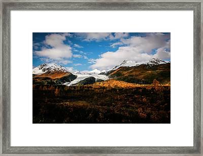 Worthington Glacier  Framed Print