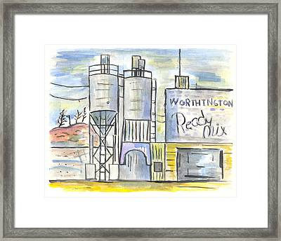 Worthington Ready Mix Framed Print by Matt Gaudian