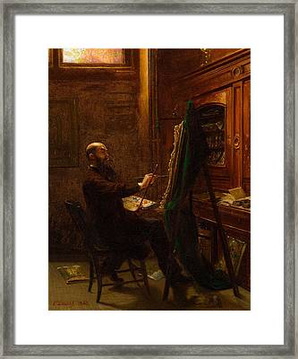 Worthington Whittredge In His Tenth Street Studio Framed Print by MotionAge Designs