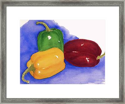Would You Believe Peppers Framed Print