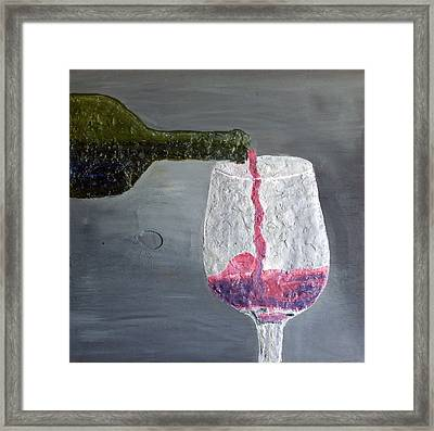 Would You Like A Glass Or Would You Mine If I Framed Print by Leslye Miller