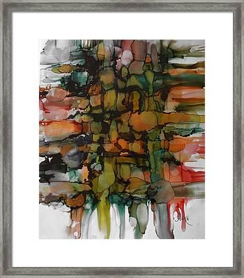 Woven Framed Print by Alika Kumar