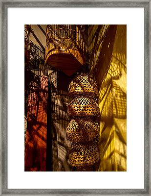 Woven Baskets Framed Print by Jocelyn Kahawai