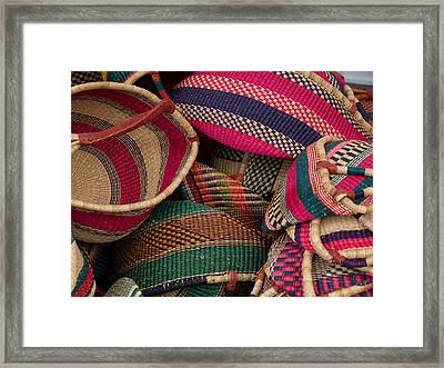 Woven Baskets Framed Print by Walter Beck