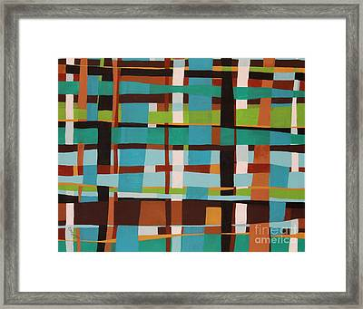 Woven Blues Framed Print