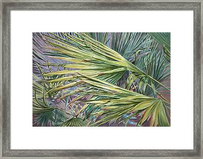 Woven Fronds Framed Print