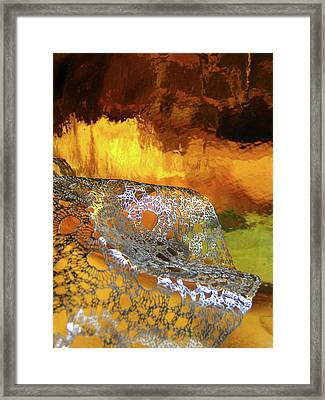 Woven Palette Framed Print by Gail Butters Cohen