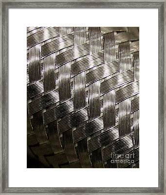 Woven Pipe Framed Print
