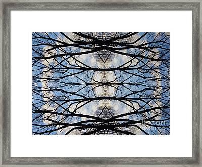 Woven Sky Framed Print
