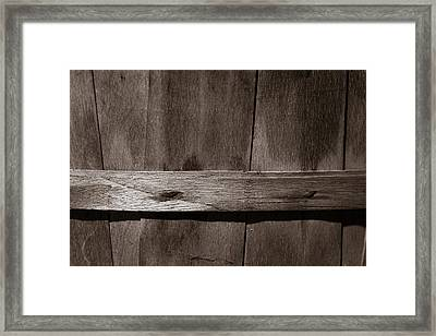Woven Wood Framed Print by Chris Bordeleau