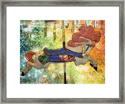 Wow Carousel Horse Framed Print