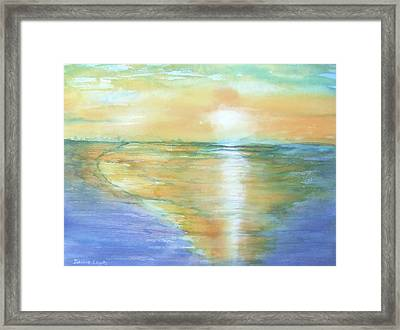 Wow Sunset Framed Print by Debbie Lewis