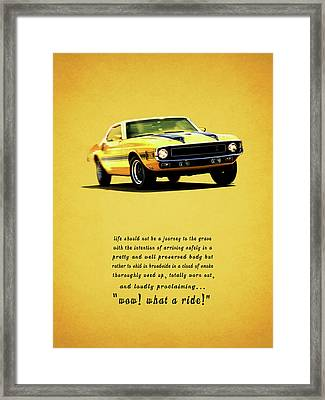 Wow What A Ride Framed Print by Mark Rogan