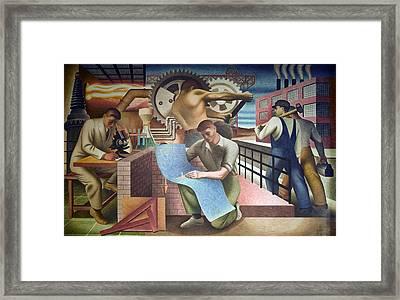 Wpa Mural. Mural By Charles Klauder Ca Framed Print by Everett