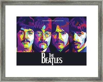 Wpap The Beatles Framed Print by Adam Khabibi