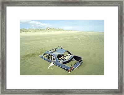 Wrack Auto Framed Print by Tib Nagi