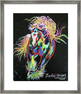 Wraggle Taggle Gypsy Cob Framed Print by Louise Green