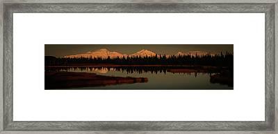 Wrangell Mountains At Sunset Framed Print