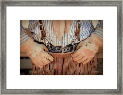 Wrangler Gloves Framed Print