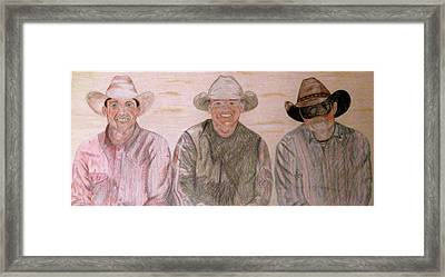 Wranglers From Elkhorn Framed Print